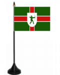 Nottinghamshire Desk / Table Flag with plastic stand and base